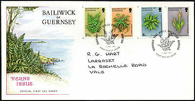 Guernsey 1975 Ferns, Plants FDC First Day Cover #C41857