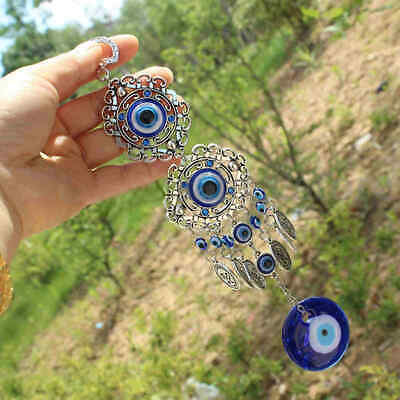 Blue Evil Eye Hamsa Hand Amulet Wall Protection Hanging Turkish Lucky Pendant