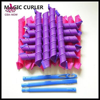 Magic Hair Curlers No Heat Fast and easy DIY Spiral Styling Tools 18PCs 55CM
