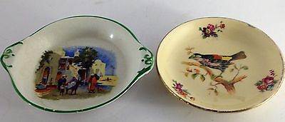 Two antique/vintage pin dishes by Royal Doulton & Royal Winton