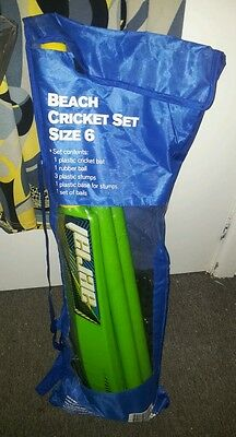 BEACH CRICKET SET plastic balls bat stumps and base BRAND NEW