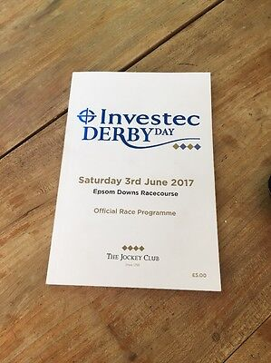 Investec Derby Derby Race Card And Lanyard