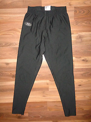 Under Armour Youth Large Boys Base Layer Black stretch fitted Pants EUC