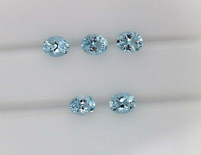 Natural Gemstone Wholesale Lot Certified Aquamarine Oval Cut 5x4mm 1.78Cts