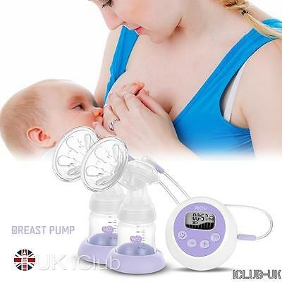 Electric Breast Pump Milk Baby Infant Bottle Feeding Lightweight Pumps Latex