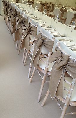 Job Lot 54 Hessian Sashes for Barn/Rustic Wedding/Party/  Quality Item