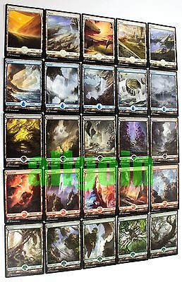 MTG BFZ 25x Textless Full Art Basic Lands (1x Full Set) NM Battle for Zendikar