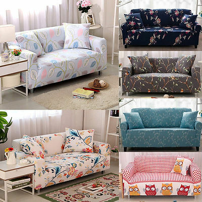 1/2/3/4 Seater Slipcover Corner Sofa Jacquard Stretch Fitted Couch Cover Home