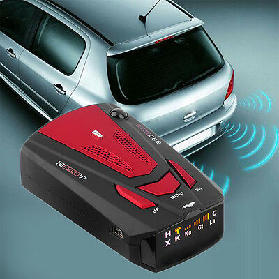 New Car Radar Detector 16 Band Voice Alert Laser V7 LED Display BS