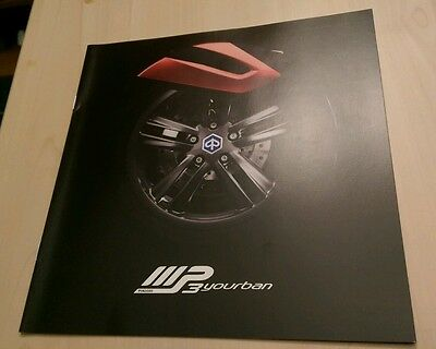 Official Piaggio (Italy) MP3 Yourban Scooter Brochure - CEASED - Collectors Item