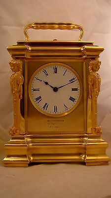 Fully Restored Exhibition Quailty GIANT Grande Sonnerie Carriage Clock, Drocourt