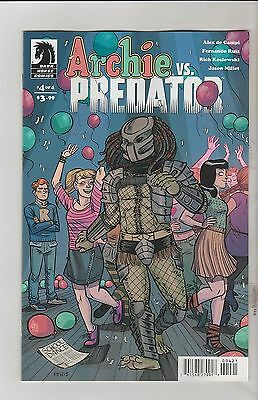 Dark Horse Comics Archie Vs Predator #4 July 2015 Hicks Variant 1St Print Nm