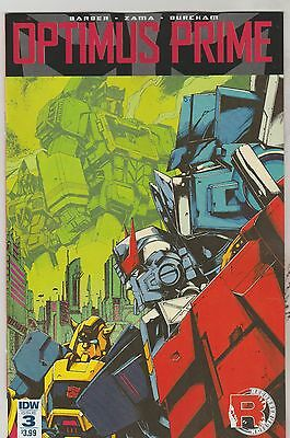 Idw Comics Optimus Prime #3 January 2017 1St Print Nm