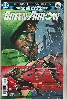 Dc Comics Green Arrow #21 June 2017 Rebirth 1St Print Nm