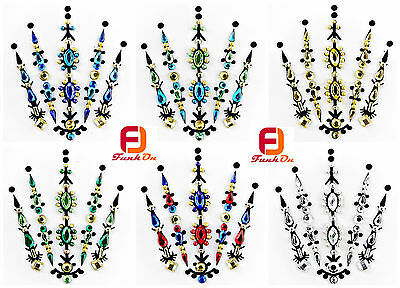 One Piece Combination Bindi Fusion Festival Face Gem Jewel Diamante Bridal BC10