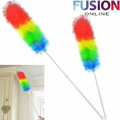 1.2M Duster Telescopic Anti Static Extendable Handle Feather Long Brush Hygienic