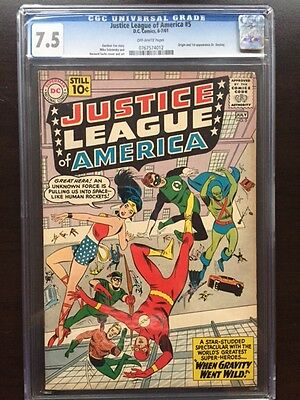 JUSTICE LEAGUE OF AMERICA #5 CGC VF- 7.5; OW; 1st app. Doctor Destiny!