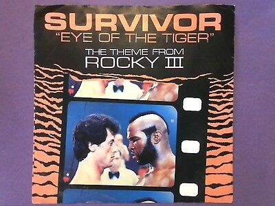 """Survivor - Eye Of The Tiger (7"""" single) picture sleeve SCT A 2411"""