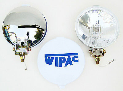 Wipac Chrome Plated Halogen Driving / Spot Lamps S6007 for; MG, Mini, Morris etc