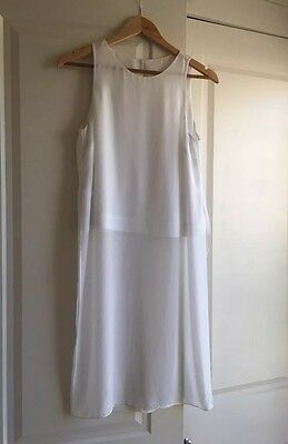 Witchery White Blouse Sheer Overlay Long Top