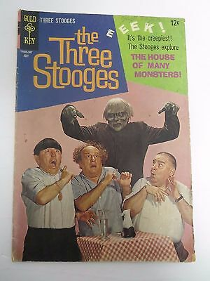 Gold Key The Three Stooges The House of Many Monsters Comic July 1965 No. 24