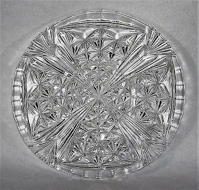Vintage, Heavily Decorated, Large Pressed Glass Plate  Shallow Bowl - 28 cm