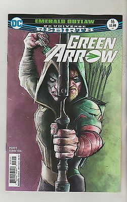 Dc Comics Green Arrow #16 April 2017 Rebirth 1St Print Nm