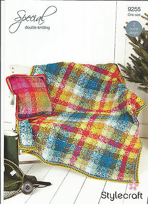 Sylecraft Special Double Knitting,easy Patchwork,throw Blanket Crochet Pattern