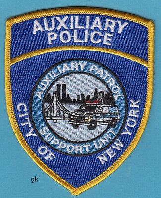 New York Auxiliary Police Support Unit Shoulder Patch