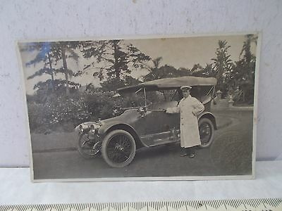 Good And Rare Postcard Driver & Car By Robert Percy Moore 379 Kent St.sydney