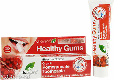 Dr Organic Bioactive Pomegranate Eco Friendly Antioxidant Toothpaste 100Ml