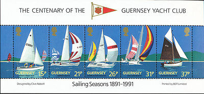 Great Britain Guernsey, MNH Collection of Miniature Sheets  Strips of 5 and a SS