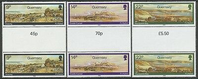Great Britain Guernsey Scott 320-324 or SG 355-359 MNH pairs