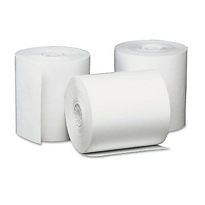 """Single-Ply Thermal Paper Rolls, 3 1/8"""" X 230 Ft, White, 50/carton-UNV35763"""