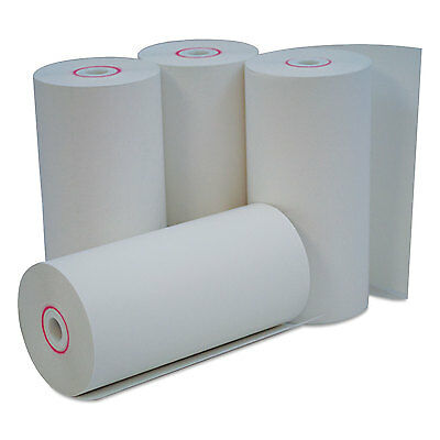 """Single-Ply Thermal Paper Rolls, 4 3/8"""" X 127 Ft, White, 50/carton-UNV35765"""