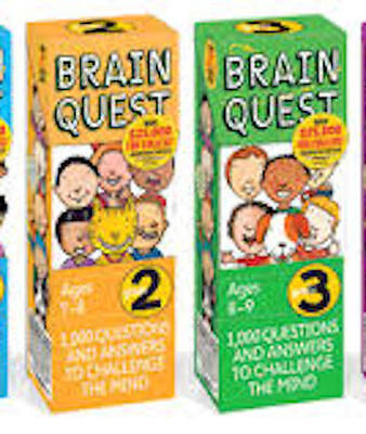 Brain Quest  ( 2)  Grade 2 (ages 7-8) and Grade 3 (ages 8-9) 4th edition