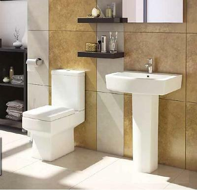 Embrace Toilet Bathroom Pan Modern Square and Wash Hand Basin
