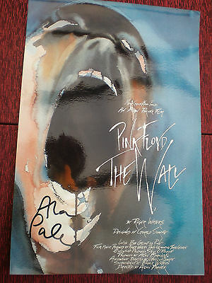 """Pink Floyd """" The Wall """"   Mini Movie Poster Photo ~ Signed by Alan Parker"""