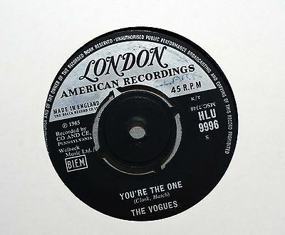 """THE VOGUES You're The One Rare 1965 Vinyl 7"""" Single London HLU 9996 Plays Well"""