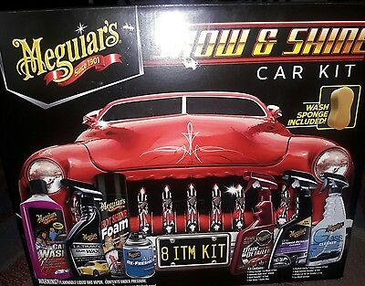 Meguiar's Show & Shine Car Kit. Clean car inside and out. Car wash. Auto care