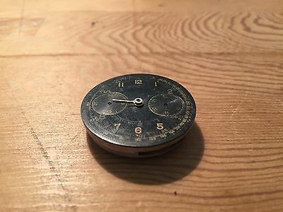 Used - 50's Antique Wind Watch Movement - With Chronograph - For Spare