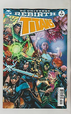 Dc Comics Titans #9 May 2017 Rebirth Variant 1St Print Nm