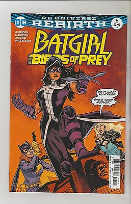 Dc Comics Batgirl And The Birds Of Prey #6 March 2017 Rebirth 1St Print Nm