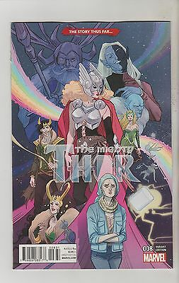 Marvel Comics Mighty Thor #8 August 2016 Story Thus Far Variant 1St Print Nm