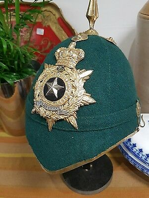 British Artillery Green Cloth Helmet Officers Scottish Cameronians 26 Military