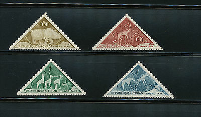 Chad - 4 stamps