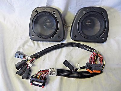 Harley Davidson BOOM! Audio Fairing Lower Speakers & Harness '06-'13 FLH Models