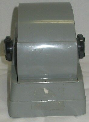 Vintage Zephyr American Gray Rolodex Flip File Spin Covered Desk Accessory