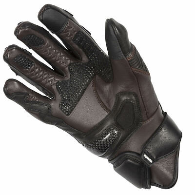 Spada Sled Dog Motorcycle Motorbike Leather Waterproof Lined Gloves - Brown
