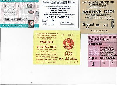 TICKET 1971/72 Wolves v Manchester City League Cup Replay